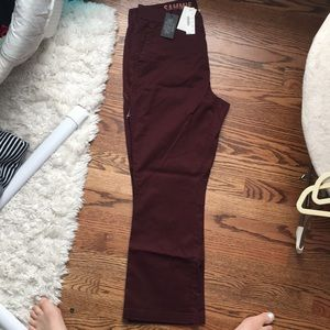 New with tags size 30 crew garnet colored chinos